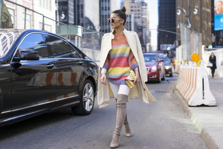 Wide colorful stripes