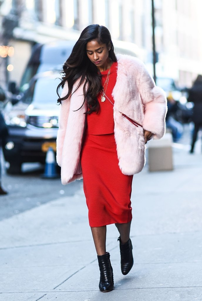 Mixing blush pink and lipstick red