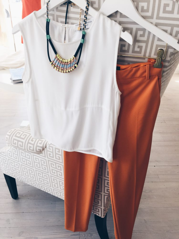 Pair your white with a pop of color